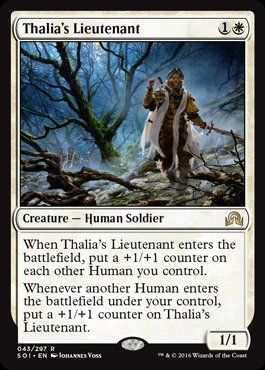 Magic: the Gathering - Thalia's Lieutenant (043/297) - Shadows Over Innistrad by Magic: the Gathering
