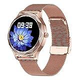 GUHUIHE Smart Watch Mujeres Encantadora Pulsera sueño Ritmo cardíaco presión Arterial Monitor smartwatch Damas Regalos Relojes Hombres (Color : DT86 Pink Steel)