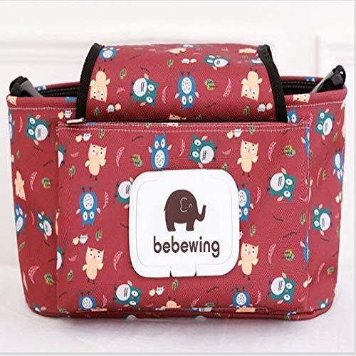 YOUYUANF Boîte de Rangement Baby Poussette Sac Accessoires Poussette Enfant Étanche Cartoon Couleur Éléphant Sac De Rangement Sac Suspendu Sac Momie