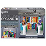 Expandable Under Sink Organizer and Storage I Bathroom Under the Sink Organizer Kitchen Under Sink Shelf I Cleaning Supplies Organizer Under Sink Storage I EXPANDABLE HEIGHT DEPTH & WIDTH