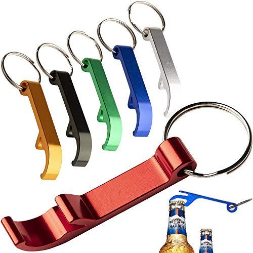 BITEFU 24pcs Décapsuleur avec Porte-clés ,Couleur Ouvre Bouteille en Alliage D'aluminium pour Bouteille de Biere