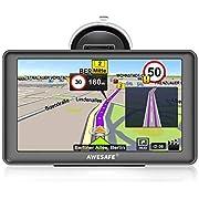Sat Nav 2019 Latest 5 inch 8GB 256MB Sat Navs for Cars Truck GPS Satellite Navigation System with Non-Slip Car Bracket Holder