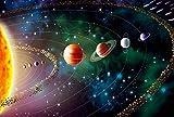 LWQHJJJ 500-1000-1500 Pieza Rompecabezas Sistema Solar DIY Juego creativo abstracto Puzzle de juguete -1000 hojas