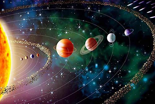 LWQHJJJ 500-1000-1500 Pieza Rompecabezas Sistema Solar DIY J