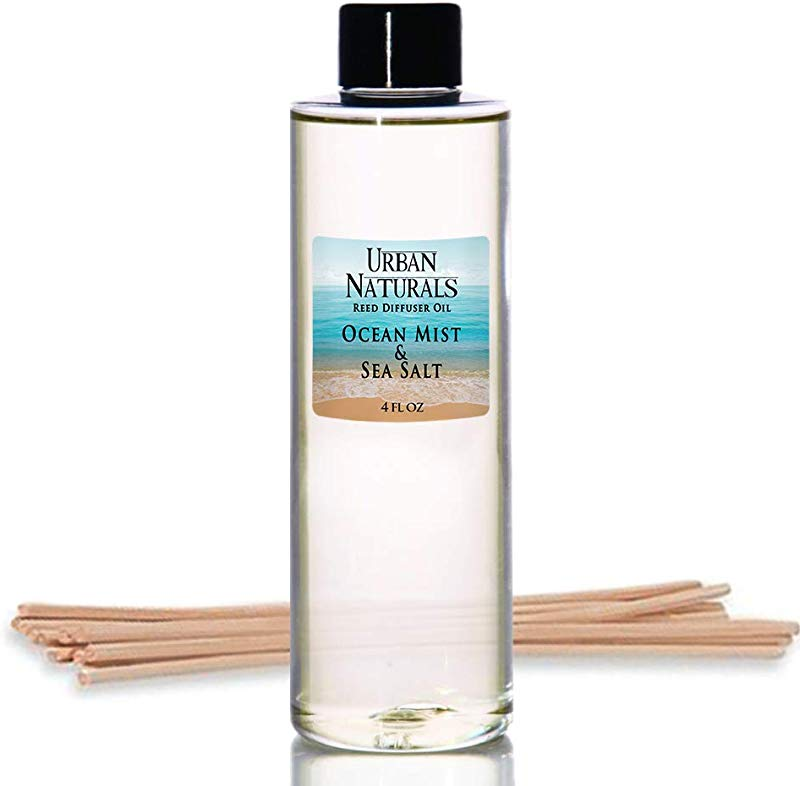 Urban Naturals Ocean Mist Sea Salt Scented Oil Reed Diffuser Refill Includes A Free Set Of Reed Sticks 4 Oz