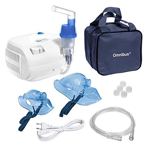 Omnibus BR-CN116B - Nuevo inhalador compresor Inhalador compacto para inhaladores bebe electrico (Blanco)