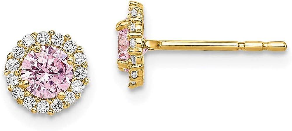 14k Madi K Pink CZ Post Earrings style SE2858