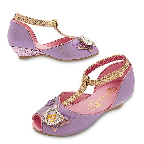 Disney Store Deluxe Rapunzel Costume Shoes Heels for Girls Size 11-12 M US Toddler Purple