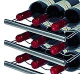 CASO WineDuett Touch 21 | Weinkühlschrank für 21 Flaschen Rotwein | 2 Zonen mit eigener Tür 7-18°C, LED, Touch, 7 Böden, getöntes Glas, schwarz - 7