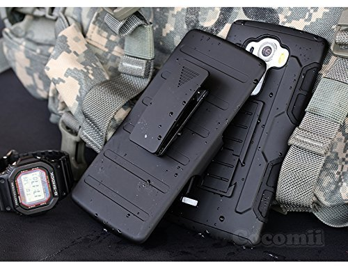 Cocomii Robot Belt Clip Holster LG G4 Stylus/G Stylo/G4 Note Hülle, Schlank Dünn Matte Ständer Drehbares Gürtelclip-Holster Hülle Bumper Cover Schutzhülle for LG G4 Stylus/G Stylo/G4 Note (Black)
