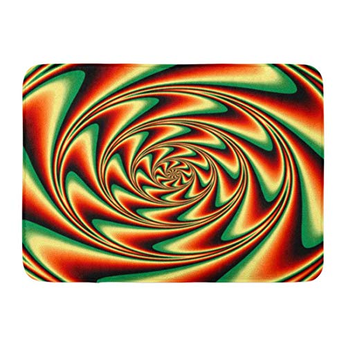 Yuanmeiju Fußabtreters Bath Rugs Door Matte Trippy Abstract Insane Psychedelic Shapes As Crazy Swirl LSD Altering 15.8