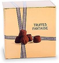 Truffes au Chocolat en Ballotin Or de 100g - saupoudrées de cacao