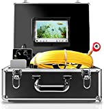 Endoscope Camera, 30M/100ft Pipe Camera 7 inch LCD Monitor Scope Camera Duct HVAC 1000TVL Sony CCD Borescope Sewer Camera Waterproof IP68 Pipeline Inspection Snake Cam (7D1N-30M-With DVR)