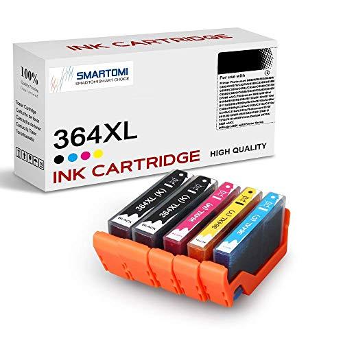 SMARTOMI - Multipack de 5 Cartouches d'encre compatibles avec Les modèles HP 364 364 XL,pour imprimantes HP Deskjet 3070A,HP Photosmart 5510 5515 5520 6510 7510 7515 C5324 C5380 C6324 B8550 D5460