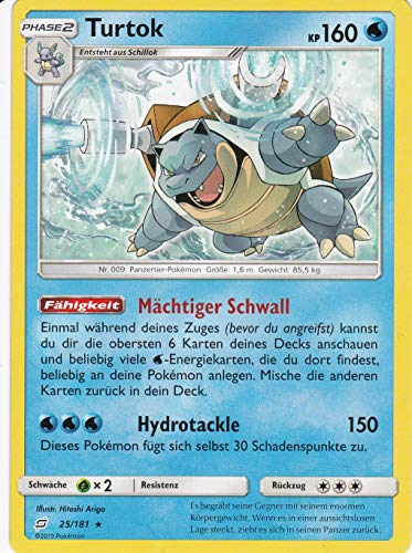 25/181 - Turtok - Rare - Pokemon - Deutsch - Teams sind Trumpf