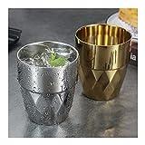 Irue 304 Copa de Agua de Acero Inoxidable para té de café, Agua Caliente, Taza de Aislamiento térmico, 2 Piezas/Set