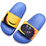 DimaiGlobal Zapatos de Playa y Piscina para Niñas Suave Bañarse Verano Chanclas para Niños Antideslizante Sandalias Zapatillas de Baño Zapatos de Ducha 28/29EU Azul Oscuro