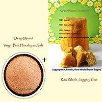 Combo 14oz Raw Himalayan Pink Salt +2LBS Whole Brown Sugar (PanelaJaggeryGur) GMO Free