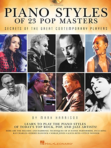 Piano Styles Of 23 Pop Masters: Secrets Of The Great Contemporary Players - Hoja de música, CD