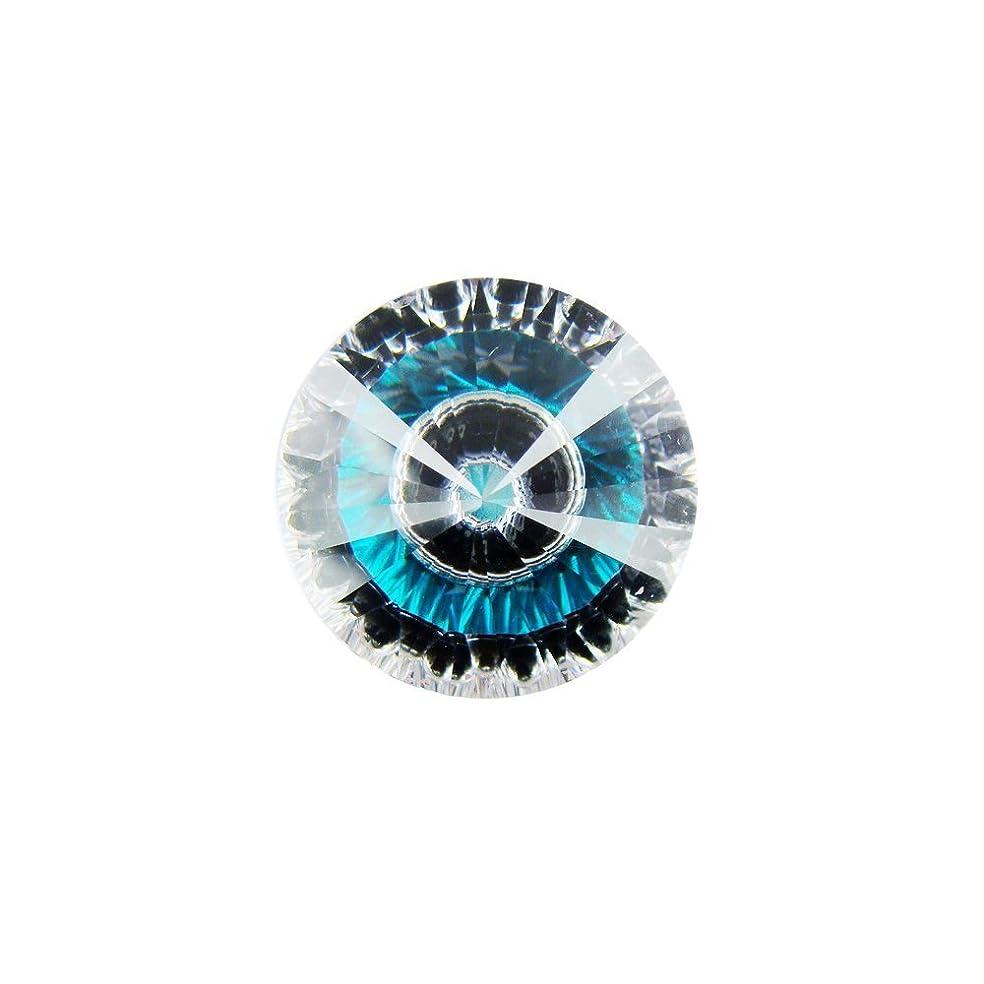 Alone Moon Splicing Color Eyes Round Cubic Zirconia Distinctive Loose gemstones10pcs (8MM, Blue)