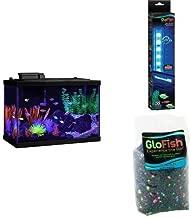 Tetra GloFish 20 Gallon Aquarium Starter Kit + Aquarium Gravel and Blue LED Light Stick