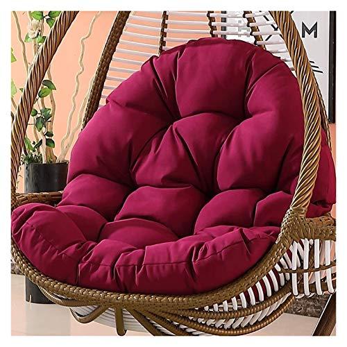 Cuscino per sedia a dondolo da giardino, in rattan, da appendere, senza supporto, cuscino per sedia a dondolo, con cuscino rimovibile, 120 x 86 x 15 cm