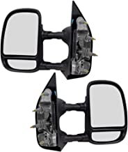 Compatible with 2003-2016 E-Series Van Replacement Driver and Passenger Manual Tow Telescopic Side View Mirrors Dual Arms Double Swing 7C2Z17683DA 7C2Z17682DA
