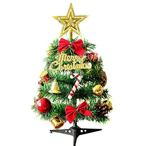 クリスマスツリー 卓上 ミニ ツリー LEDライト付き かわいい クリスマス 飾り 電飾付き クリスマスグッズ インテリア 用品 クリスマスプレゼント 30cm 50cm 組立式 (30CM 暖かいライト)