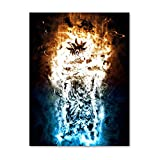 Nordic Dragon Ball Anime Manga Posters e Impresiones Saiyan Son Goku Vegeta Jiren Arte de la Pared Lienzo Pintura Imagen Decoración 50x70cm sin Marco