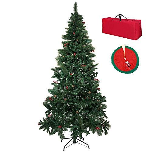 albero di natale toto piccinni Totò Piccinni Albero di Natale Artificiale Meribel Verde con Pigne e Bacche