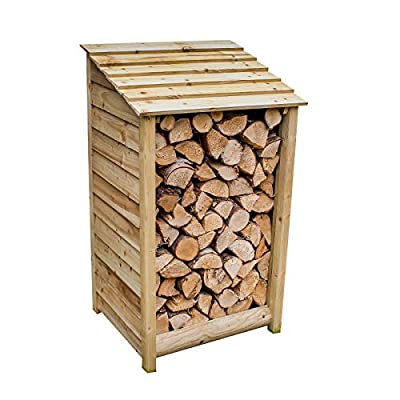 The Garden Supplies Centre Wooden Log Store, Pressure Treated,