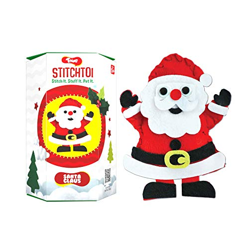 Toiing Stitchtoi Santa Claus - Combo Pack of 5 | Sewing Kit for DIY Soft Toy | Art & Craft Kit | Indoor Toy with Story for Kids Age 5 Years & Above