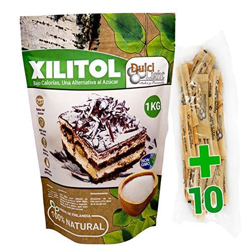 Xilitol 100% Natural 1Kg Azucar de Abedul de Finlandia Ideal para Reposteria y Dietas Edulcorantes DULCILIGHT el sabor natural del azucar.