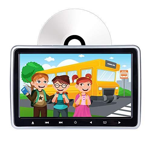 Lettore DVD per auto poggiatesta, monitor LCD da 10,1 pollici, lettore DVD/HDMI/USB/SD/sedile posteriore con slot, di Hengweili