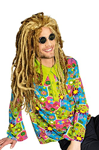 Karneval-Klamotten Hippie Hemd Herren Flower-Power Kostüm Peace 60er Jahre Fasching