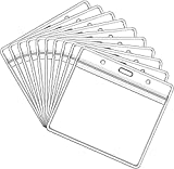 10 Pack Card Protectors 4X3in Horizontal ID Card Holder Pouch Clear Vinyl Plastic Sleeve with Waterproof Resealable Zip
