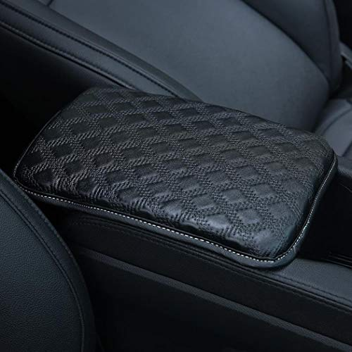 Auto Center Console Pad,Forala Car Armrest Seat Box Cover Protector Universal Fit (A-Black)