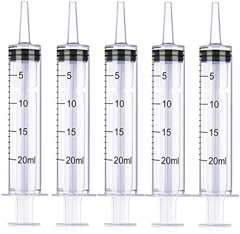 5 Pack 20ml Plastic Syringe Large Syringes Without Needle for Scientific Labs pipettes Irrigation product image