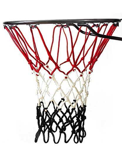 Fandom Nets Ultra Heavy Duty Basketball Net | NCAA & NBA Size | Fits Indoor and Outdoor Hoop/Goal | Basketball Net Replacement for Official Regulation Size Blue, Yellow, White, Black, Red