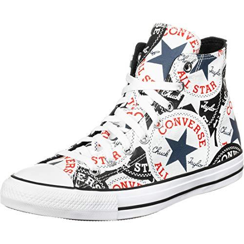 Converse Chuck Taylor All Star - Hi - Negro/Multi/Blanco Canvas