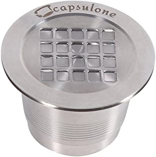 Coffee Capsule 2 Types Stainless Steel Refillable Reusable Compatible Coffee Capsule for Nespresso Machine(Thread Surface)