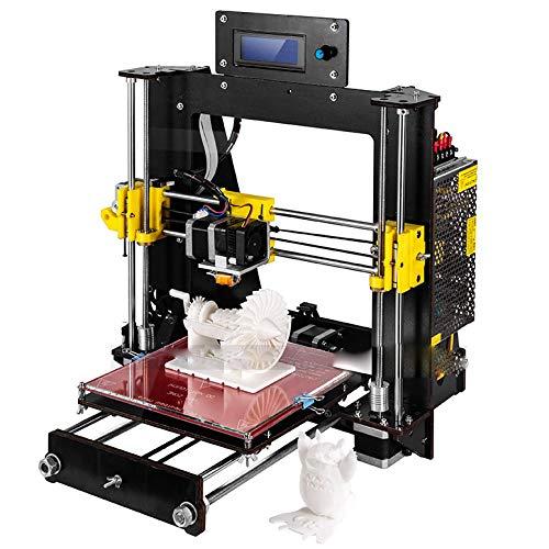 ZZWBOX Impresora 3D de Escritorio, Kit de Bricolaje, Impresora de Bricolaje 3D en casa, Pantalla LCD, función de impresión Fuera de línea de la Tarjeta SD (200 x 200 x 180 mm),Black
