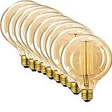 Paquete de 10 bombillas Edison vintage de 60 W – bombillas de filamento de moda para hacer un hermoso diseño, globo de 125 mm E27 ES regulable iluminación
