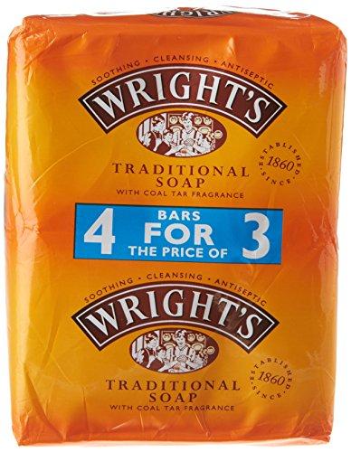 Wrights - Jabón tradicional para carbón (4 unidades)