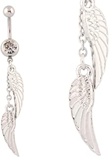 Best angel wing belly button rings Reviews