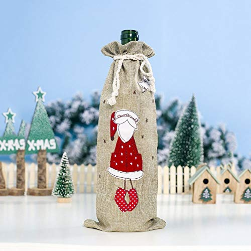 Happy-L Decoraciones, 3pcs / Lot Exquisito Bordado de Lino Conjuntos de Botellas...