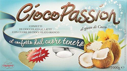 Crispo Confetti Cioco Passion Cocco - Colore Bianco - 1 kg