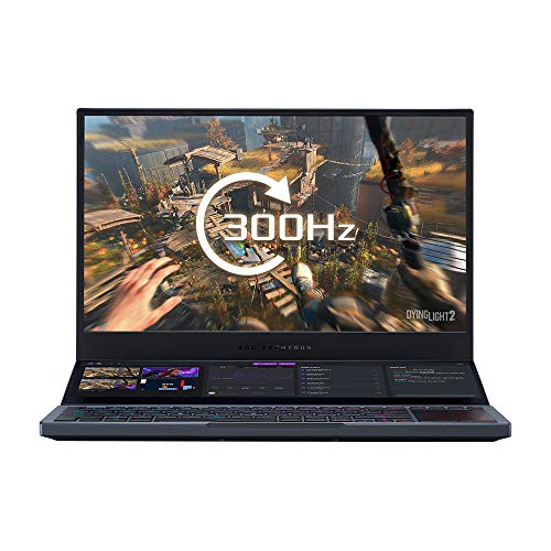 "ASUS ROG Zephyrus Duo GX550LWS Full HD 300Hz 15.6"" Dual-Screen Gaming Laptop (Intel Core i7-10875H, NVIDIA GeForce RTX 2070 Super 8GB, 32GB RAM, 1TB M.2 NVMe PCIe 3.0, WiFi 6, Windows 10)"