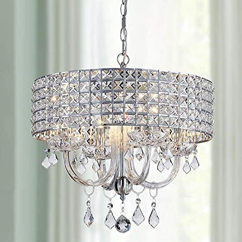 WINNI WELL 4 Light K9 Crystal Chandelier Light Fixture,Modern Chandelier Crystal Pendant Light...