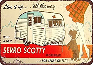 Serro Scotty Trailers Vintage Look Reproduction Metal Sign 8 x 12